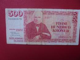 ISLANDE 500 KRONUR 1961(81) CIRCULER (B.8) - Islande
