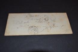 Lettre 1855 Pour Ste Marie Aux Mines + Ambulant Strasbourg Bale - 1849-1876: Periodo Classico
