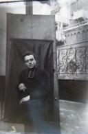 LYON, Place Saint Jean, 1890 : Vue Sur La Cathédrale En Rénovation. Plaque De Verre. Lire Descriptif - Plaques De Verre
