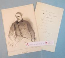 Nicolas-Toussaint CHARLET Peintre Graveur Invitation / Menu Autographe + Gravure - PAJOL Ecole Etat Major - L.A.S Lettre - Autographes