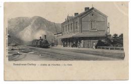 Bomal-sous-Durbuy - La Gare - Train à Vapeur - Ch. Delfosse - Circulé - 2 Scans. - Durbuy