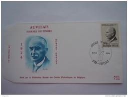 België Belgique 27-04-1974 FDC Journée Du Timbre Hubert Krains Ecrivain Postier Et Directeur Générale Auvelais 1713 - 1971-80