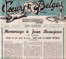 Beaujean De Dolhain  Crasson De Waimes  Revue COEURS BELGES Organe De La Résistance / Guerre 40-45 - Revues & Journaux