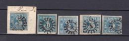 Bayern - 1850/58 - Michel Nr. 2 II - Typen - Gest. - 30 Euro - Bayern