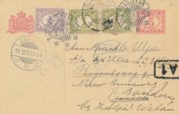 Nederlands Indië - 1923 - 5 Cent Cijfer, Briefkaart + 2,5 Cent Van LB PRADJEKAN Naar Garoet En Door Naar Bandoeng - Nederlands-Indië