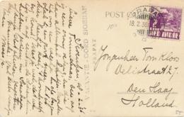 Nederlands Indië - 1936 - 2 Cent Karbouwen Op Ansicht Van LB PRAPAT Naar Den Haag - Hotel / Vacantie-oord Sioehan - Nederlands-Indië