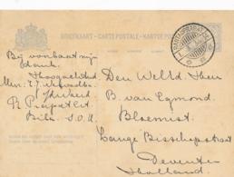 Nederlands Indië - 1934 - 5 Cent Cijfer, Briefkaart G54 Van LB RANTAUPRAPAT Naar Deventer / Nederland - Nederlands-Indië