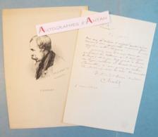 L.A.S 1838 Nicolas-Toussaint CHARLET Peintre Graveur - à M. Davin Au Louvre - Tableau - Lettre Autographe LAS + Gravure - Autographes
