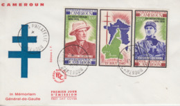 Enveloppe  FDC  1er  Jour   CAMEROUN    GENERAL  DE   GAULLE    1971 - De Gaulle (Général)