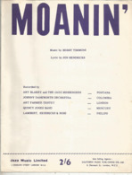 Partition Musicale Ancienne  ,Bobby Timmons ,Jon Hendricks ,MOANIN' , Frais Fr 1.85 - Partitions Musicales Anciennes