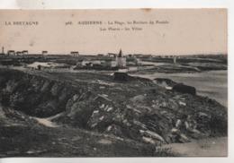 CPA.29.Audierne.La Plage Les Rochers Du Pouldu.Les Phares.Les Villas. - Audierne