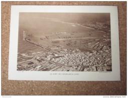 Maroc Le Port De Casablanca  1930  Photogravure Format 20 Cm X 29 Cm. - Vieux Papiers