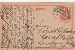 Allemagne Ambulant Halle-Hannover Sur Entier Postal 1921 - Deutschland