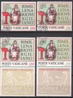 Vatikan  (1981)  Mi.Nr.  783 + 784 + 783 Zf. + 784 Zf. Gest. / Used  (8fk19) - Vatican