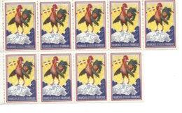 Erinnophilie, Lot De 9 Vignettes Patriotiques Neuves, Bon état. - Briefmarken