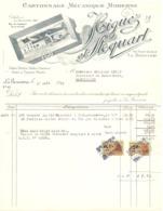 Factuur Facture - Cartonnage Higuez & Stoquart - La Bouverie - 1953 - Imprenta & Papelería