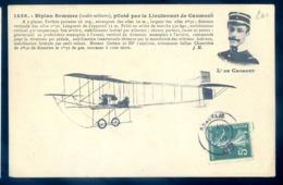 Cpa Aviation Avion Biplan Sommer Piloté Par Le Lieurenant De Caumont    LZ51 - ....-1914: Précurseurs