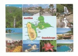 -Carte Contour Géographique De GUADELOUPE - Cartes Géographiques