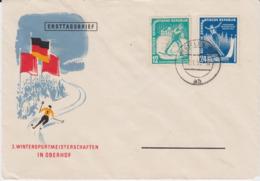 DDR Mi 298-99 Kpl Wintersport Oberhof Schmuck FDC 1952 - FDC: Buste