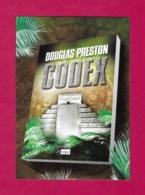 """CPM.    Cart'Com.   Thriller """"Le Codex"""".   Douglas Preston.   L'Archipel.    Postcard. - Publicité"""