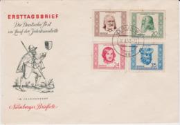 DDR Mi 311-14 Kpl Persönlichkeiten Schmuck FDC 1952 - FDC: Buste