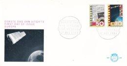 Nederland - FDC - E209 - Europese Communicatie Satelliet ECS-1 - ESA Noordwijk ZH 17-5-1983 - NVPH 1285-1286 - FDC & Gelegenheidsboekjes
