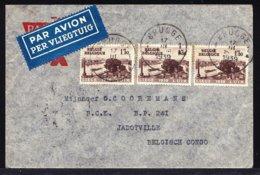 LETTRE AVION DE BRUGES > BCK CONGO JADOTVILLE 1939 - OBP 486 - Voir Verso Tampons - Marcophilie