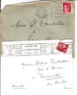 """FRANCE -  1935-1936 - Lot De 2 Lettres Avec Flamme """"Exposition Internationale Paris 1937"""" - 1932-39 Paz"""