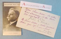 CDV 1917 Jules CHERET Peintre & Lithographe+ Photo Collection Félix Potin - Atelier - Carte De Visite Autographe Ww1 - Autographes