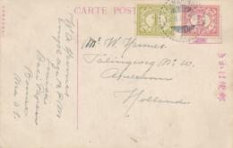 Nederlands Indië - 1921 - 1 & 5 Cent Cijfer Op Japanse Ansicht Van LB SAMARINDA Naar Apeldoorn / Nederland - Nederlands-Indië