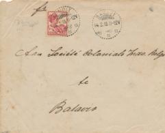 Nederlands Indië - 1918 - 10 Cent Wilhelmina Op Cover Van LB SAMPIT Naar Batavia - Nederlands-Indië