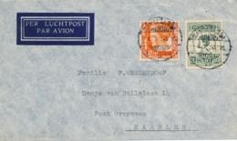 Nederlands Indië - 1938 - 50 & 12,5 Cent Wilhelmina Op LP-cover Van LB SANGASANGA Naar Haarlem / Nederland - Nederlands-Indië