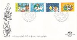 Nederland- FDC - KInderzegels - Os En Ezel/sneeuwman/sterren/driekoningen - NVPH E213 - Kindertijd & Jeugd