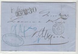 Uruguay / U.S. / Tax / Transatlantic Mail / France Ship + Maritime Mail - Uruguay