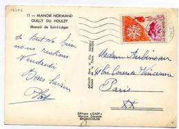 France N° 1306 Y. Et T. Orne Tesse La Madeleine Flamme Muette Du 28/08/1961 - Marcophilie (Lettres)