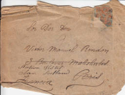 1893 - Lettre Pour La France Redirigée Vers L'Ecosse - Non Classés