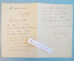 L.A.S 1910 Jules CHERET Peintre & Lithographe- Rue Bayen - Présentation Peintures - Lettre Autographe LAS - Paris Nice - Autographes