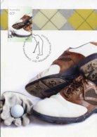 """Entier Postal De 2011 D'AUSTRALIE Sur CP Avec Timbre Et Illust. """"Chaussures De Golf"""" - Golf"""