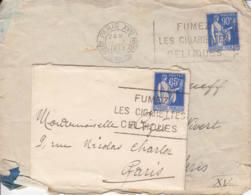 FRANCE -  Lot De 2 Lettres -  Fumez Les Cigarettes Celtiques - 1932-39 Paz