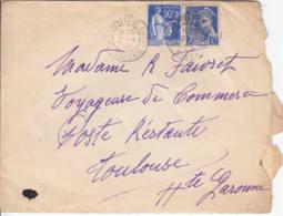 FRANCE - 1940 - Lettre De La Chapelle St André  Pour Toulouse En Poste Restante - France