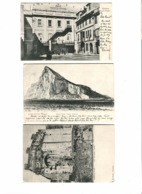 6 Old Postcards 1907 Governor's Cottage, Royal Theatre Etc. - Gibilterra