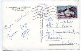 France N° 1311 Y. Et T. Alpes Maritimes La Turbie Flamme Muette Du 11/07/1963 - Marcophilie (Lettres)