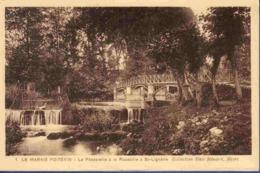 79 NIORT Le Marais Poitevin, La Passerelle à La Roussille à St Lignaire - Niort