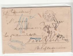 Uruguay / U.S. / Transatlantic Mail / France Ship + Maritime Mail / Tax - Uruguay