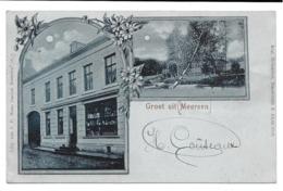 1 Ansichtkaart 1902 - Groet Uit Meersen - Kruidenierswinkel - Verliefde Bomen - Maastricht