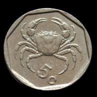 Malta 5 Cents 1991-2007. Animal Coin. Crab. Circulated. Km95 - Malta