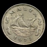 Malta 10 Cents (Barge Of The Grand Master) 1972. Coin. Km11 - Malta