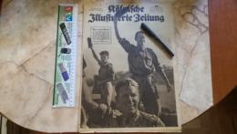 1943 WWII WW2 Kölnische Illustrierte Zeitung NAZI GERMANY ARMY MAGAZINE MILITARY DEUTSCH ZEITSCHRIFT PILOT Salerno ITALY - Police & Militaire