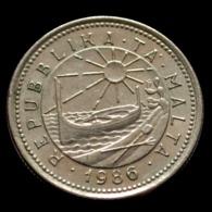 Malta 2 Cents 1986. Fishing Boat Coin. Km79 - Malta