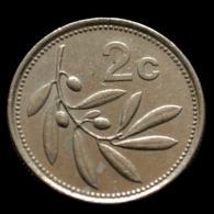 Malta 2 Cents. National Emblem Coin. Random Age Km94 - Malta